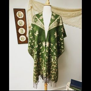 Vintage Floral Shawl Wrap